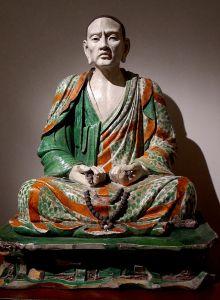 Statue de l'Arhat Tamrabhadra (musée Guimet)