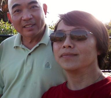 Tạ Thái và bạn đạo Nguyễn Thanh Bá, Laguna Beach November 2013